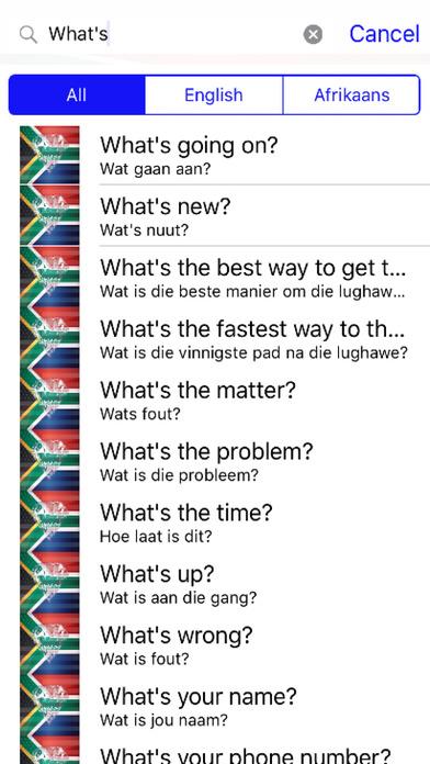Afrikaans Phrases Diamond 4K Edition screenshot 2