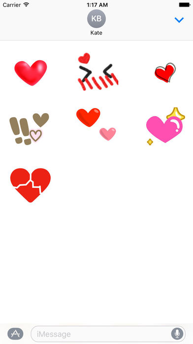 Animated Sweet Heart Heartmoji Sticker screenshot 2