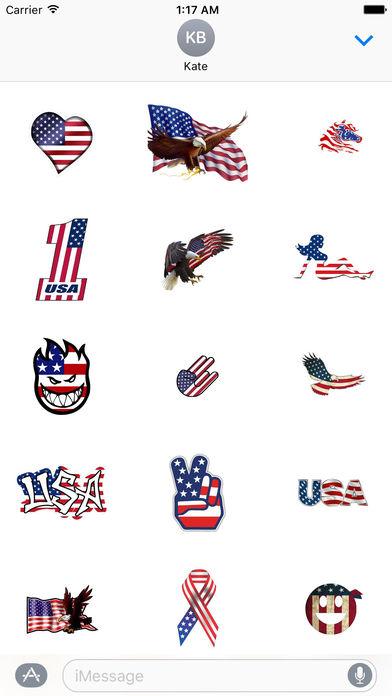 Happy Flag Day 2017 Sticker screenshot 3