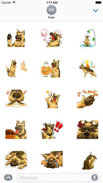 Blondi The Smart German Shepherd Dog Sticker screenshot 2