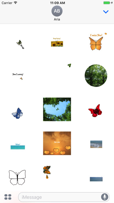 Animated Butterfly in The World Sticker screenshot 1