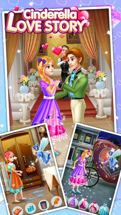 Cinderella Love Story - Fun Games screenshot 2