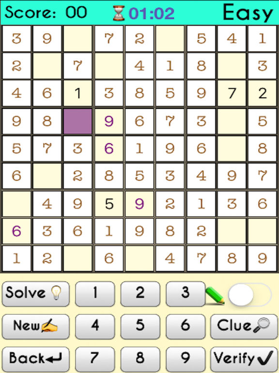 Complete Sudoku Puzzles 2- Full Featured Game screenshot 6