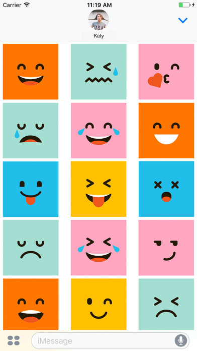 Funny Square Emojis - Weird but lovely screenshot 1