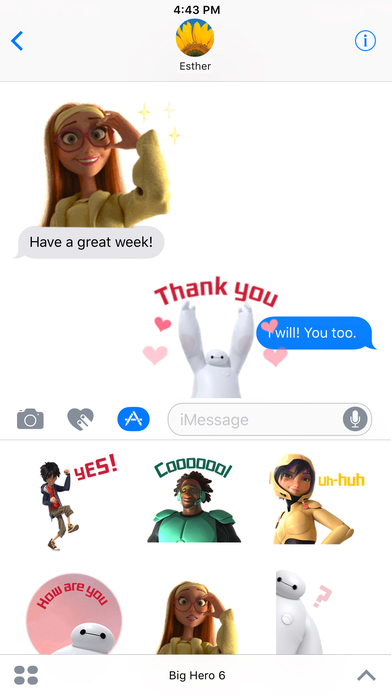Disney Stickers: Big Hero 6 screenshot 1