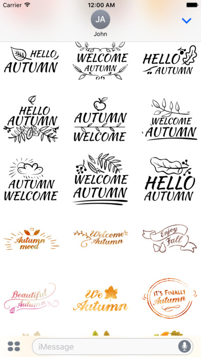 Autumn Greetings - Say it With Beautiful Stickers screenshot 4