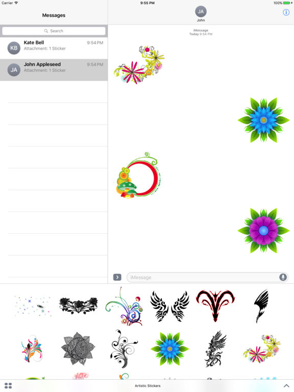 Best Artistic Stickers screenshot 3