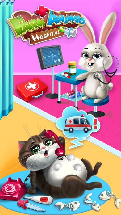 Farm Animals Hospital Doctor 3 - No Ads screenshot 1
