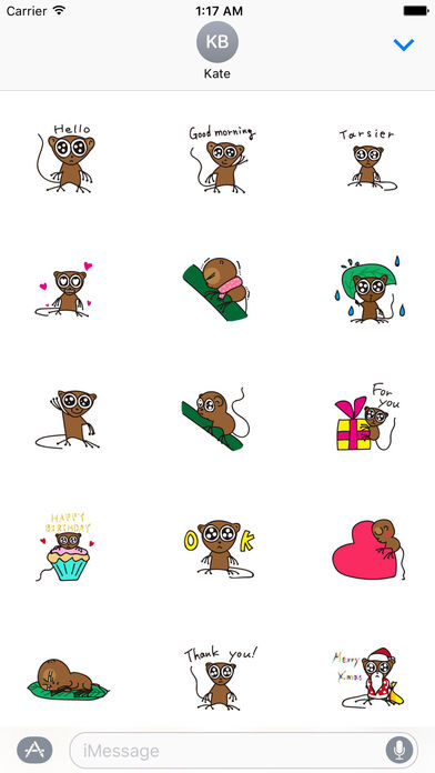 Cute and Shy Tarsier Sticker screenshot 1