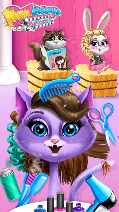 Farm Animals Makeover - Cute Virtual Pet Salon screenshot 1