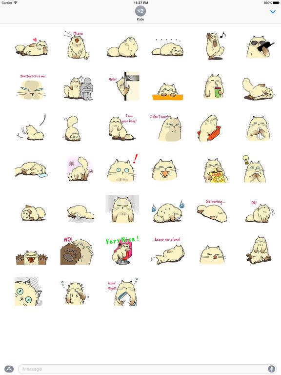 Catmoji - Cute Persian Cat Emoji Sticker screenshot 4