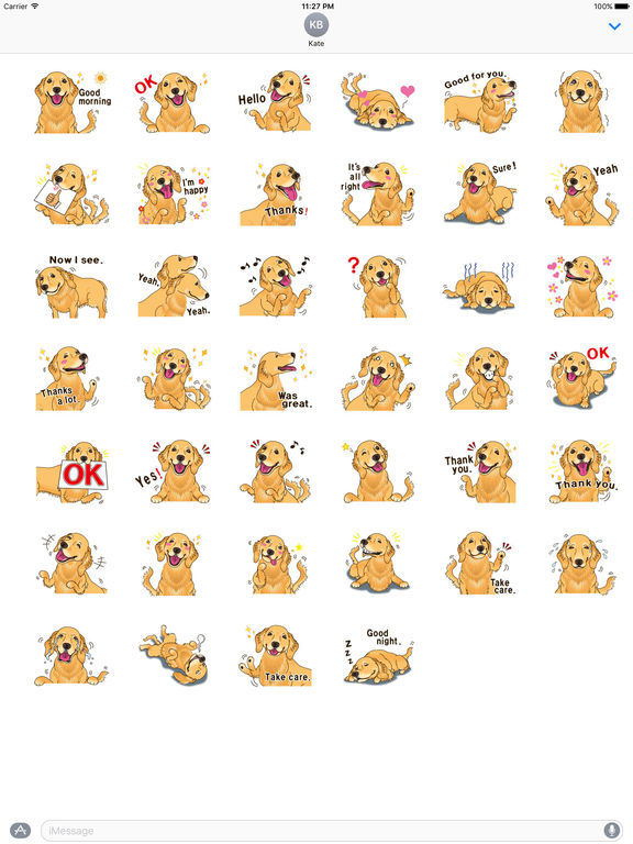 Storm The Brave Golden Retriever Dog Sticker screenshot 4
