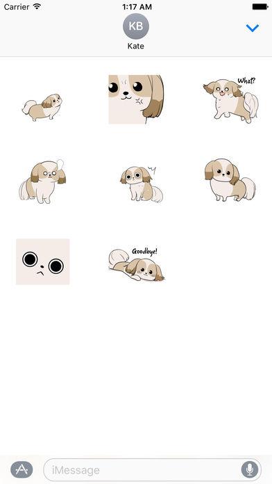 Shih Tzu Dog - Shihmoji Emoji Sticker screenshot 3