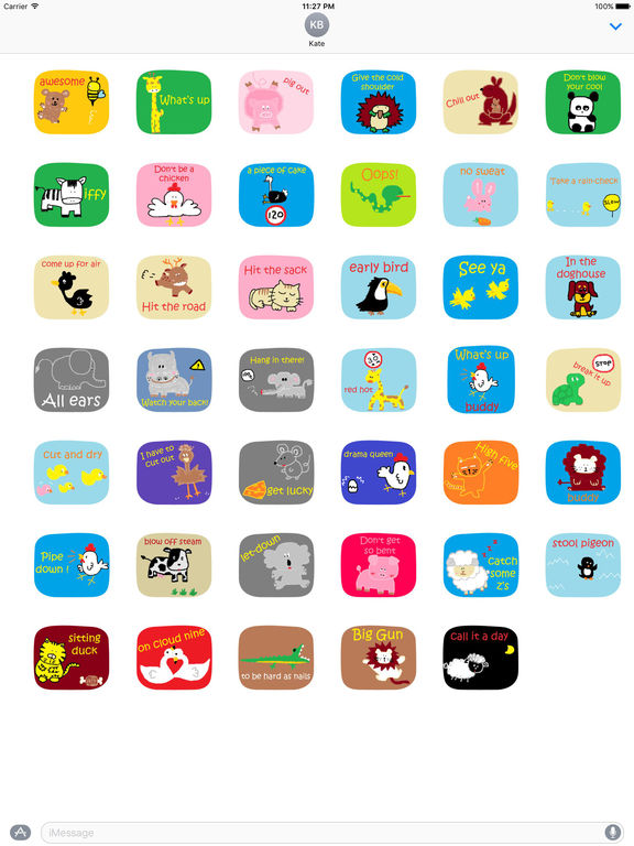 American Slang with Cute Animals Sticker screenshot 4