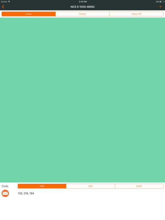 Ncs color chart. 3D fan deck screenshot 9