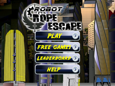 Robot Rope Escape - Amazing Fly And Escape From City screenshot 6