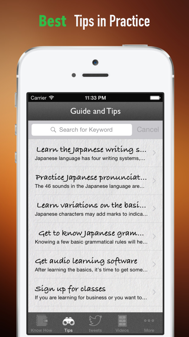 Japanese  for Beginners:Glossary, Tips and Guide screenshot 4