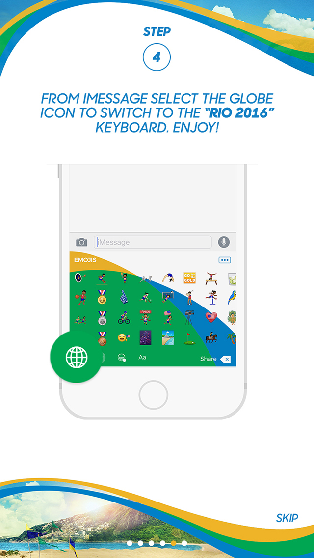 Rio 2016 Keyboard screenshot 3