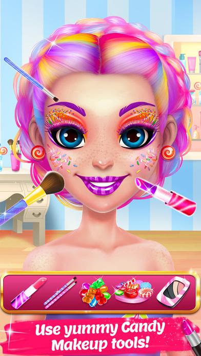 Candy Makeup Beauty Game screenshot 2