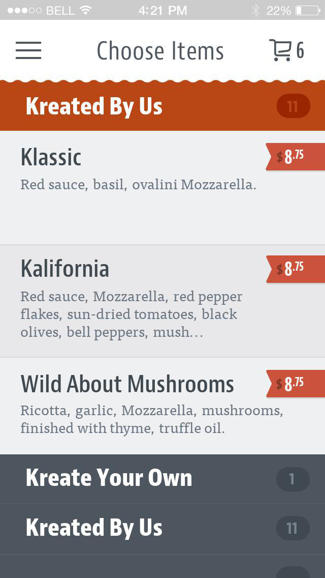 Kreate Pizza screenshot 3