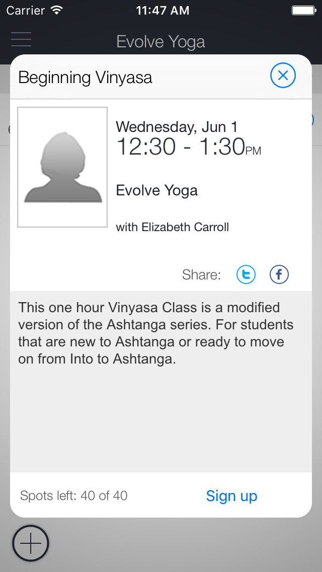 Evolve Yoga Mobile screenshot 1