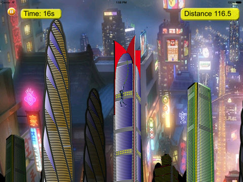 Rope Swing Girl Hero - Fly and Jump in the City screenshot 9