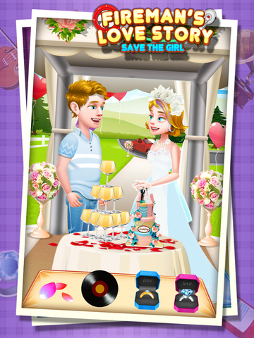 Fireman's Love Story - Rescue Game FREE screenshot 9