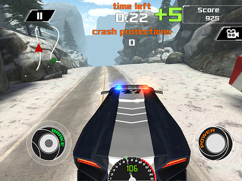 Arctic Police Racer 3D - eXtreme Snow Road Racing Cops FREE Game Version screenshot 8