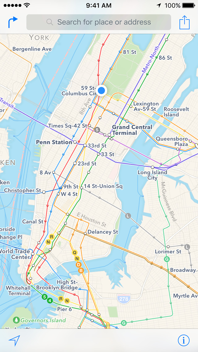 Apple Maps screenshot 1