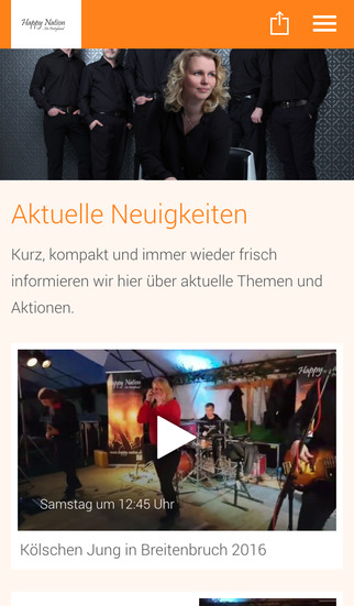 Happy Nation - Die Partyband screenshot 1