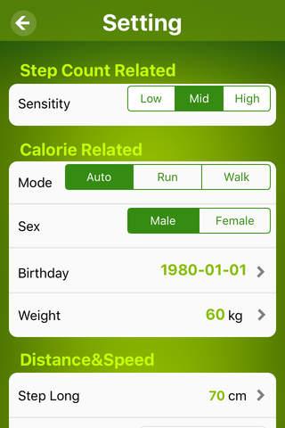 Pedometer - make health walk - náhled