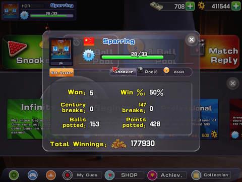 SNOK-World best online multiplayer snooker game! screenshot 10