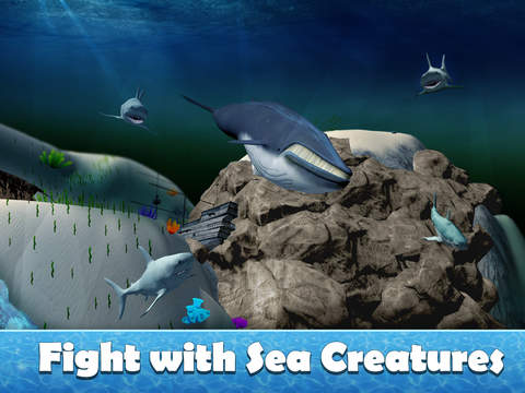 Big Blue Whale Survival 3D - Try whale simulator, be ocean animal! screenshot 6