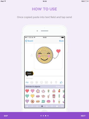 Craftmoji - the cute craft sticker App screenshot 8
