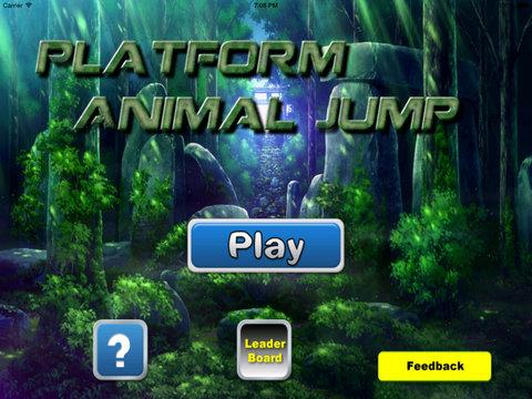 A Platform Animal Jump - Rino Jumping To Avoid Sharp Obstacles screenshot 6