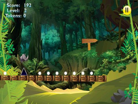 A Platform Animal Jump - Rino Jumping To Avoid Sharp Obstacles screenshot 7