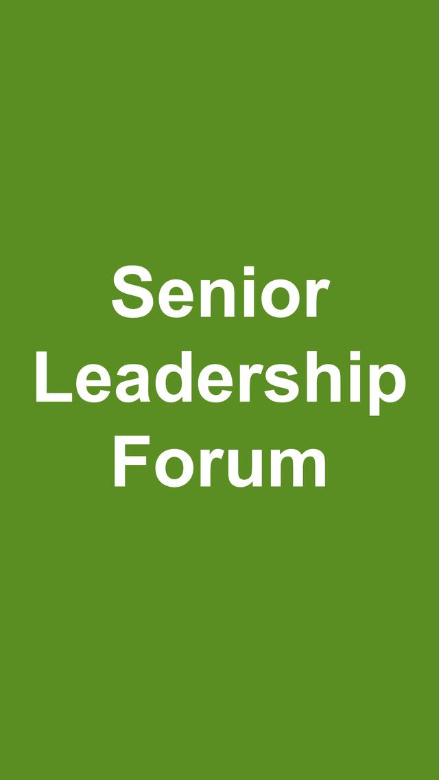 Senior Leadership Forum screenshot 2