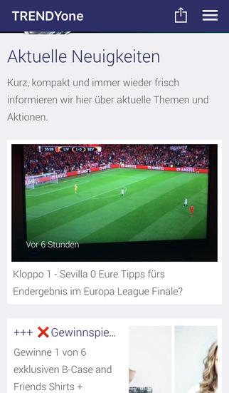 TRENDYone App screenshot 1