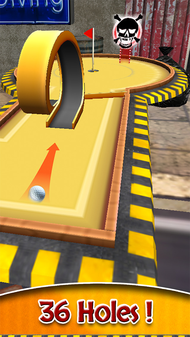 Mini Golf Masters 36+ holes turbo Edition: Feel of real golf game with flick and putt for ace players by BULKY SPORTS screenshot 3