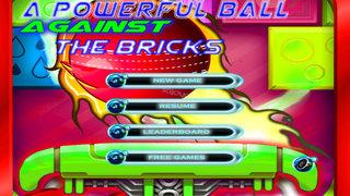 A Powerful Ball Against The Bricks - Galactic Bricks Breaking Game screenshot 1