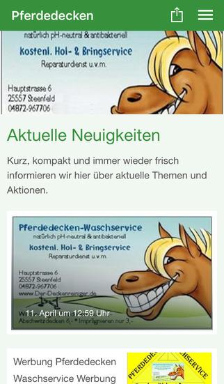 Pferdedecken Waschservice screenshot 1