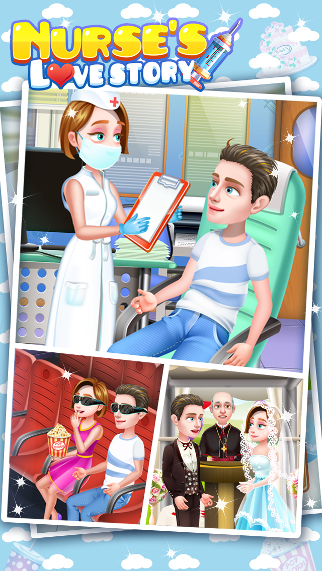 Nurse's Love Story - Treat Patient, Uber Date, Proposal, Wedding, Life Game FREE screenshot 1
