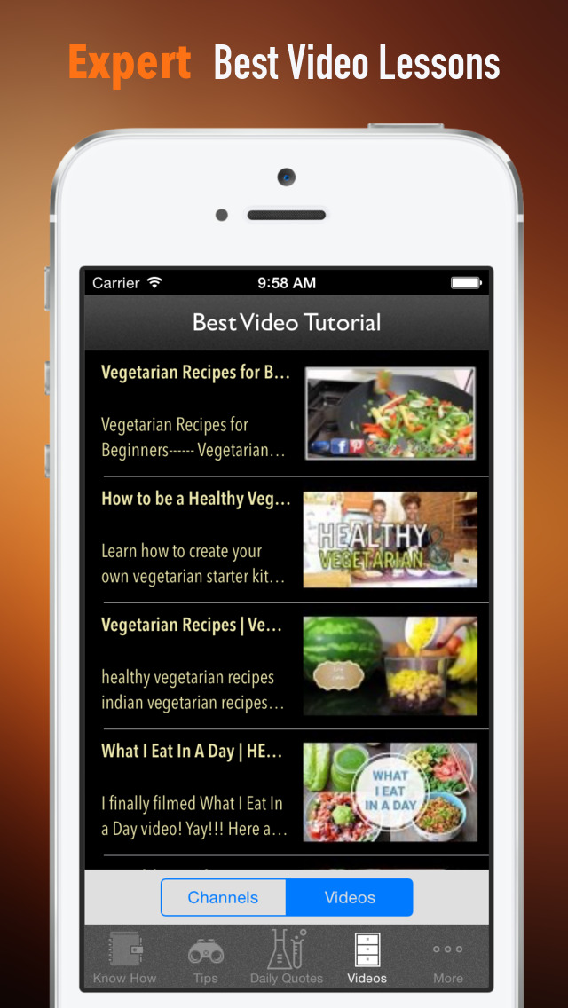 Vegetarian Cooking Skills:Health Recipes and Exercise Plans screenshot 3