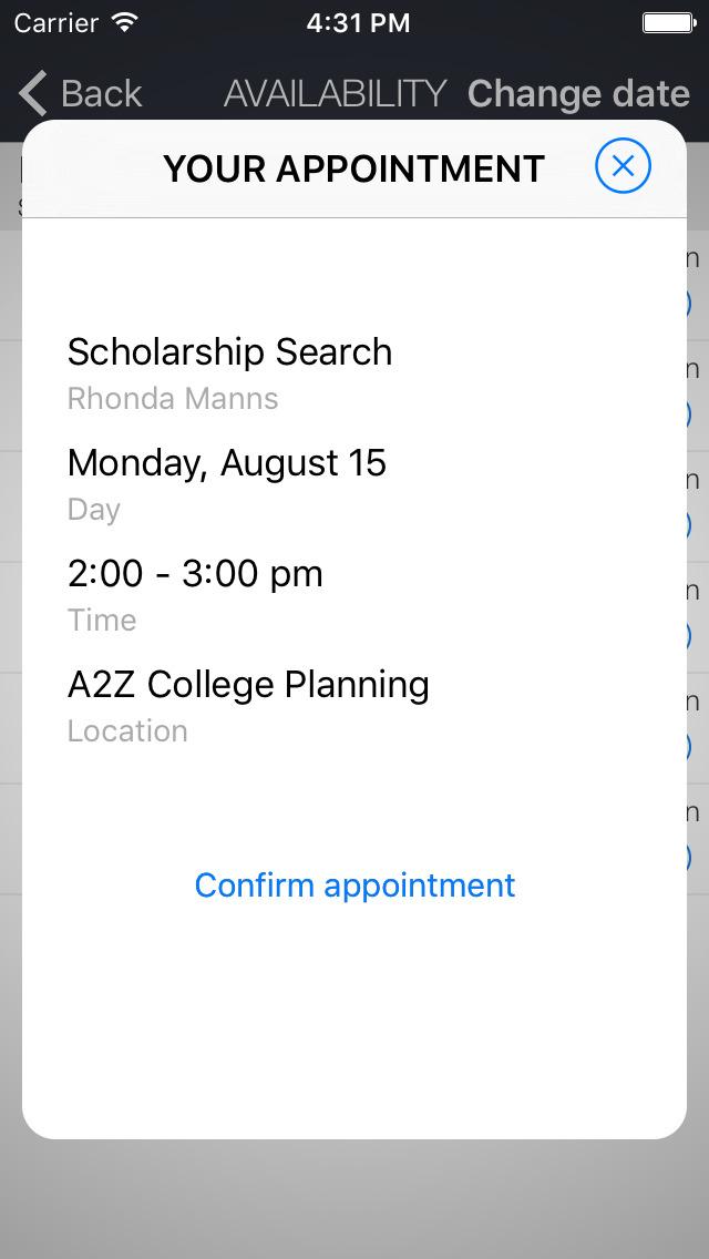 A2Z College Planning App screenshot 2