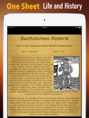 Biography and Quotes for Bartholomew Roberts: Life with Documentary screenshot 7