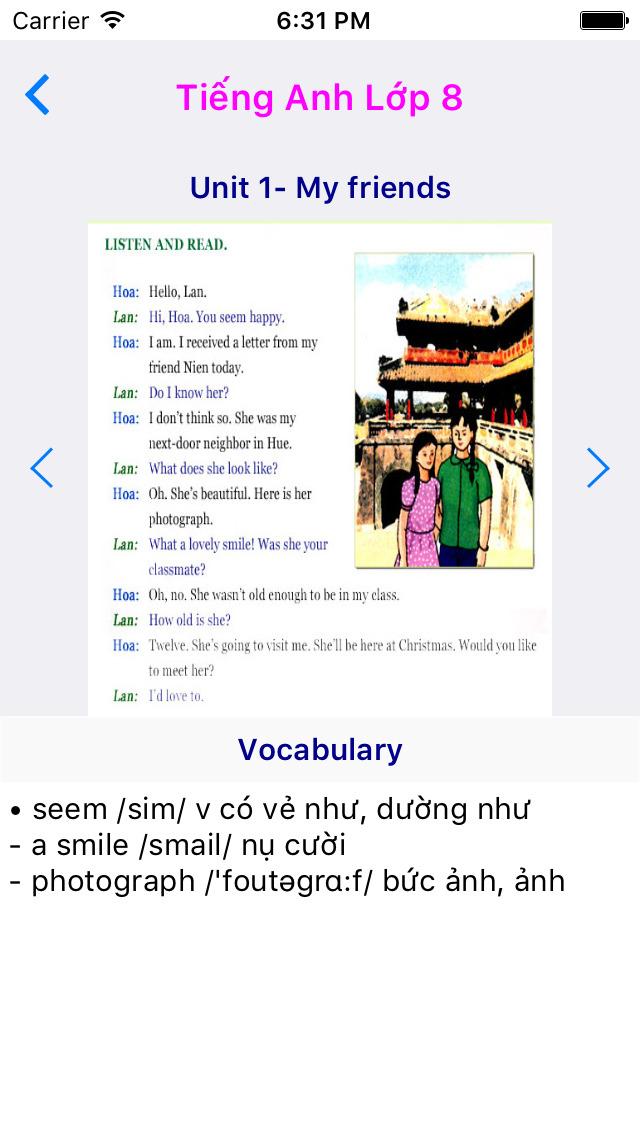 Tieng Anh Lop 8 - English 8 screenshot 2