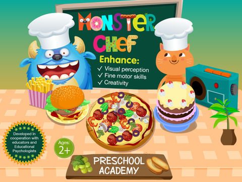 Monster Chef - Baking and cooking with cute monsters - Preschool Academy educational game for children screenshot 7