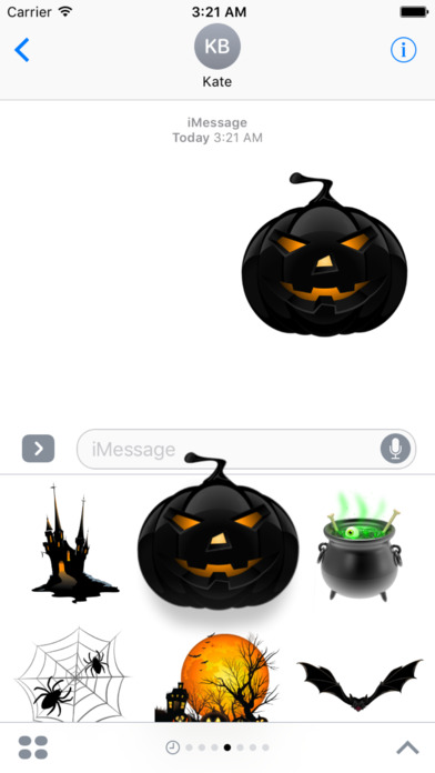 Halloween Creepy Stickers for iMessage screenshot 5