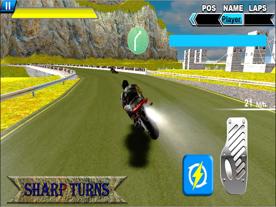 Sports Bike Rider : New Heavy Biker Race 2016 screenshot 4