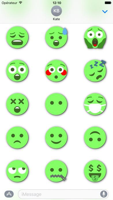 GREEN Emoji • Stickers screenshot 4